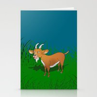 goat Stationery Cards featuring  Goat  by mailboxdisco
