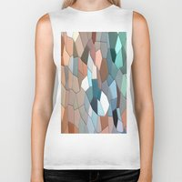 mosaic Biker Tanks featuring mosaic  by  Agostino Lo Coco