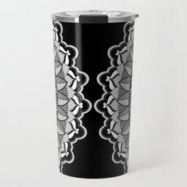 silver mandala Travel Mug