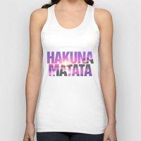 hakuna Tank Tops featuring Hakuna Matata Vintage Beach Sunset by RexLambo