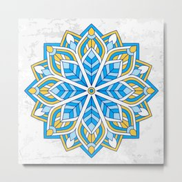 Decoration Geometric Metal Print