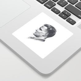 A portrait of F Scott Fitzgerald Sticker