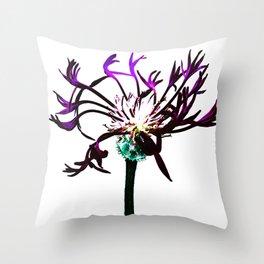 Cross Process Flower Abstract Throw Pillow