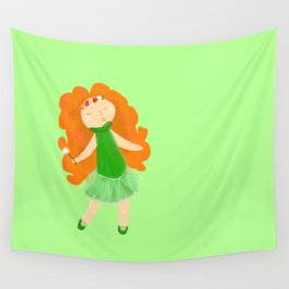 Red haired Ballerina Wall Tapestry