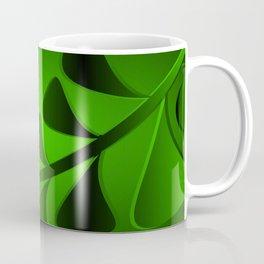 Pattern turquoise black plants grass blades minty vintage style. Coffee Mug