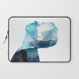 double exposure Face Laptop Sleeve