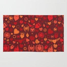 heart seamless pattern (valentine's day background) Rug