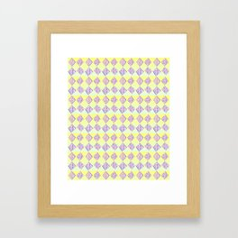 square abstraction-mutlicolor,abstraction,abstract,fun,rectangle,square,rectangled,geometric,geometr Framed Art Print