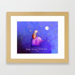 Moon Kisses Framed Art Print