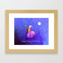 Moon Kisses Framed Art Print