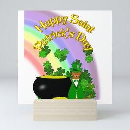 Happy Saint Patrick's Day Oliver Mini Art Print