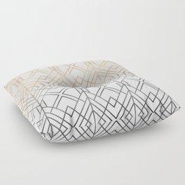 Gold And Grey Geo Floor Pillow