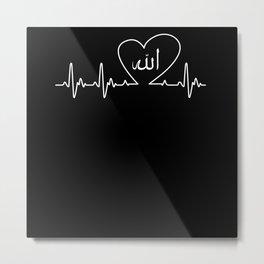 Heartbeat Allah Metal Print
