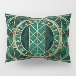 Web of Wyrd The Matrix of Fate - Gold and Malachite Pillow Sham