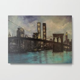 The Twin Towers, New York, NY Metal Print