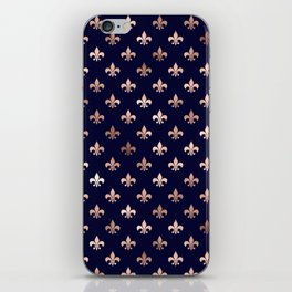 Royal Blue Rose Gold Pattern iPhone Skin