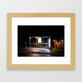 Midnight Stop Framed Art Print