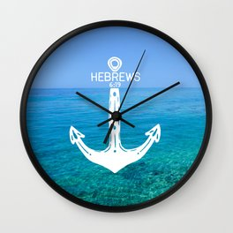 Hebrews Anchor Ocean Wall Clock