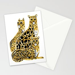 Gold Cheetahs Stationery Cards