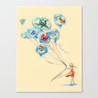 alice Canvas Prints featuring Water Balloons by Alice X. Zhang