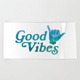 Good Vibes Shaka Beach Towel