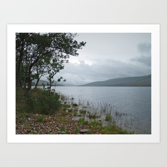 A Rainy Day at Loch Arkaig 2 Art Print