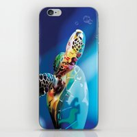 sea turtle iPhone & iPod Skins featuring Sea Turtle by Natasha Alexandra Englehardt