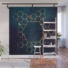 Butterfly invasion Wall Mural