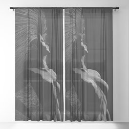 Circe by Moonlight Sheer Curtain