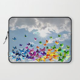 Butterflies in blue sky Laptop Sleeve