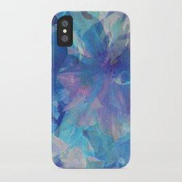 Sakura Blue iPhone Case