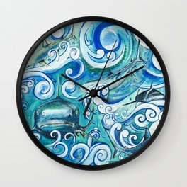 Shark wave Wall Clock