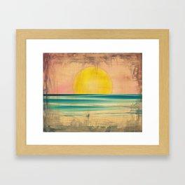 Ocean Sunset 1.0 Vintage Framed Art Print
