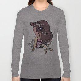 Ballerina Hippo Long Sleeve T-shirt