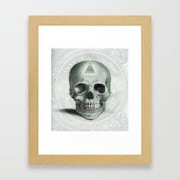 Eye on the Skull Framed Art Print