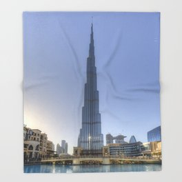 Burj Khalifa Dubai Throw Blanket