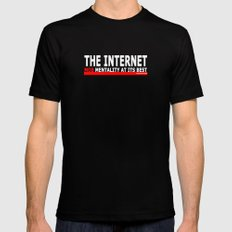 THE INTERNET - MOB MENTALITY AT ITS BEST Mens Fitted Tee Black X-LARGE