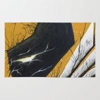 xmen Area & Throw Rugs featuring Wolver Adamantium Rage by chris panila