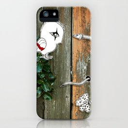 Theo and the Worm iPhone Case