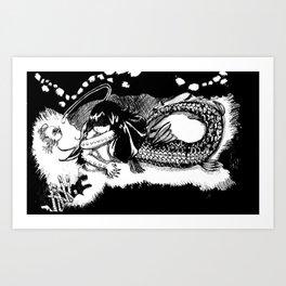 Dragonfish Mermaid Art Print