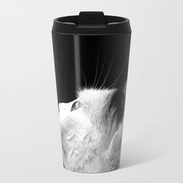 Black & White Cat Travel Mug