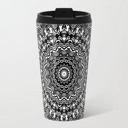 Black and white kaleidoscope Travel Mug