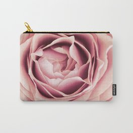 My Heart is Safe with You, My Friend - pale pink rose macro Carry-All Pouch