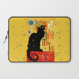 Chat Noir New Years Party Countdown Laptop Sleeve