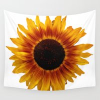 sunflower Wall Tapestries featuring Sunflower5 by Regan's World