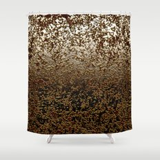 Caramelized Chocolate Brown Wet Crackle Pattern Shower Curtain