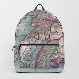 Vintage Map of The NYC Metro Area (1880) Backpack