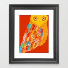 Terracotta Owl Framed Art Print