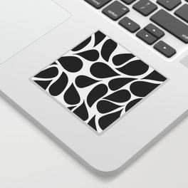 Abstract Black & White Foliage Pattern - Mix and Match with Simplicity of Life Sticker