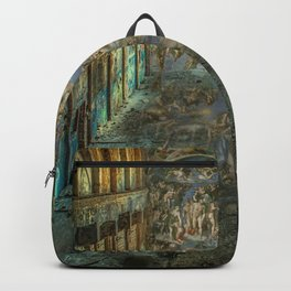 Apocalyptic Vision of the Sistine Chapel Rome 2020 Backpack